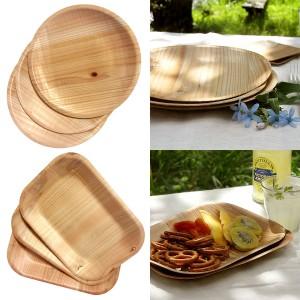 Kizara Environmentally friendly genuine wooden dishes 8 Set