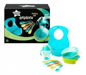 Tommee Tippee Explora Feeding & Drinking Kit - Blue #TT44673871