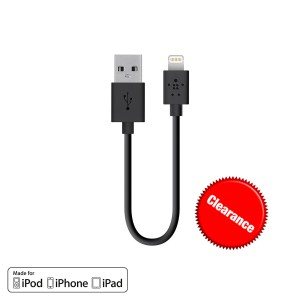 Belkin 15cm Lightning to USB Charge and Sync Cable ( Open Box)