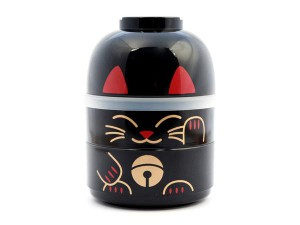 Hakoya Lucky Cat Lunchbox Large Black