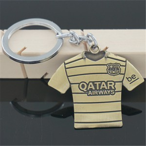 FC Barcelona Messi Football Soccer Metal Key Chain