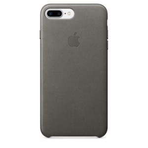 Apple iPhone 7 plus Leather Case Cover  Storm Grey  - Case Cover