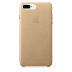 Apple iPhone 7 plus Leather Case Cover  Storm Grey Tan - Case Cover