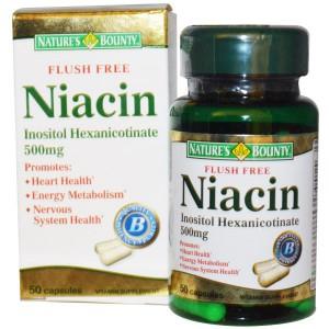 Nature's Bounty, Niacin, Flush Free, 500 mg, 50 Capsules