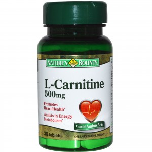 Nature's Bounty L-Carnitine 500 mg Dietary Tablets