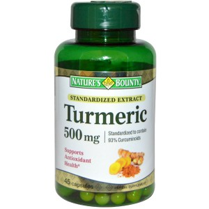 Nature's Bounty, Turmeric, Standardized Extract, 500 mg, 45 Capsules