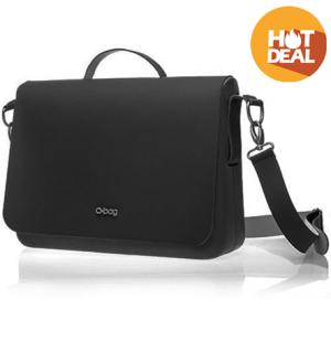 O Folder black_flap  leather shoulder black - OBFLS03-0OBFP02