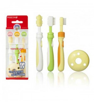 Pigeon Baby Training TOOTHBRUSH Lesson 123 Set