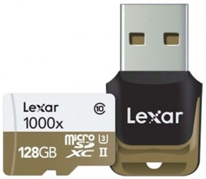 LEXAR 128GB MicroSDXC UHS-II 1000X W/ Reader (C10) LSDMI128CBEU1000R