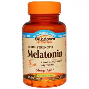 Sundown Naturals Melatonin Extra Strength 5mg, 60 Tablets