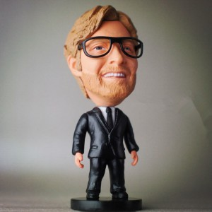 Soccerwe Klopp Figure Black suit Figurine