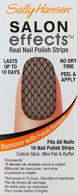 Sally Hansen Salon Effects Real Nail Polish Strips, Misbehaved, 16 Count (Open Box)