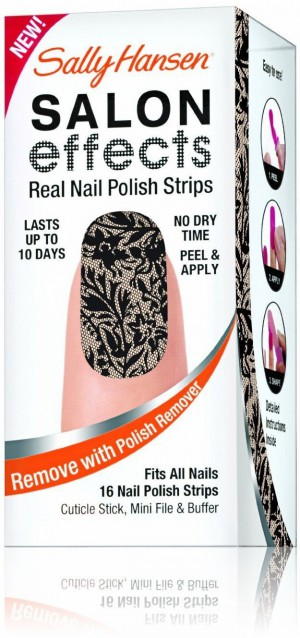Sally Hansen Salon Effects Real Nail Polish Strips, Laced Up 16 ea (Pack of 3)
