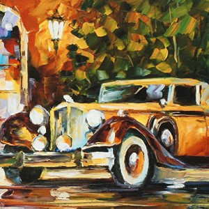 """1934 Packard"" by Afremov, a Limited Edition Canvas with COA"