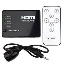 5 in 1 HDMI Switch Switcher 1080P IR Remote Control for HDTV