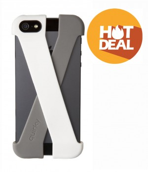 Quirky Crossover Cell Phone Case for iPhone 5/5S - White/Gray