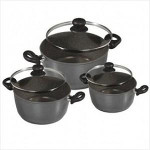 WX 6932 Stoneline 6 pcs Cooking Pot Set 18/20/24 /w Lid