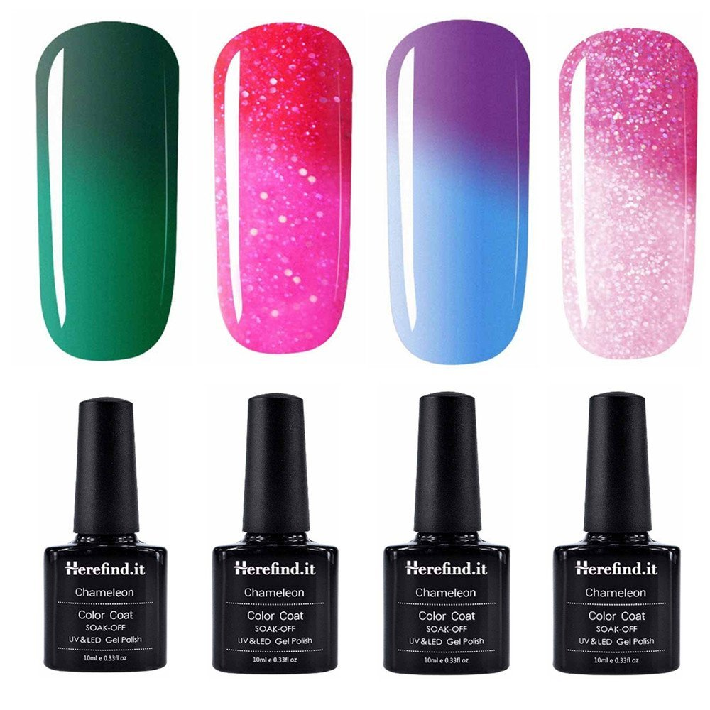 Pambeauty - Pack of 4 Bottles Chameleon Thermal Colour Changing Gel ...