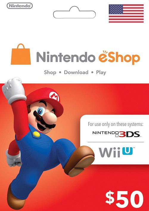 Nintendo eShop $50 Virtual Gift Card