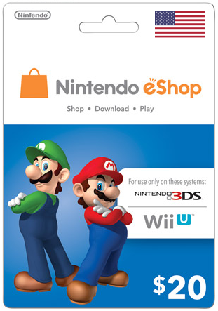 Nintendo eShop $20 Virtual Gift Card