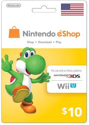Nintendo eShop $10 Virtual Gift Card