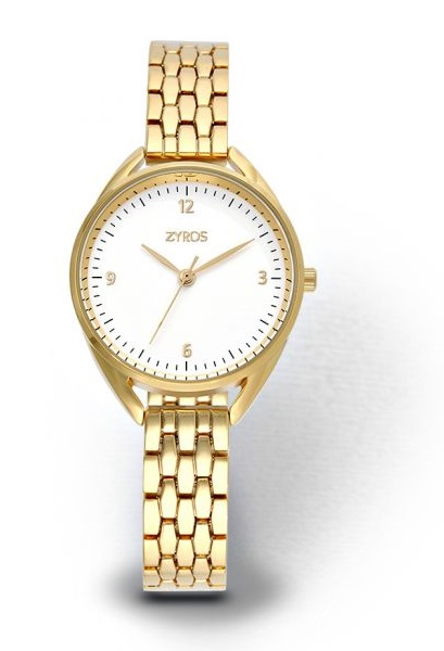 Zyros Casual Watch For Women - ZY583L - Gold