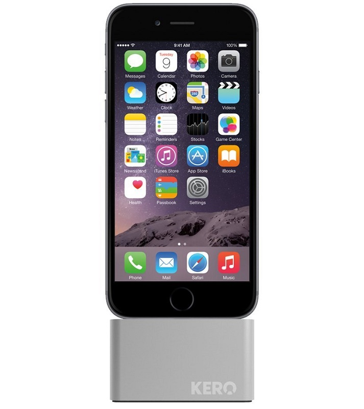 Kero Nomad Lightning Cable Weight iPhone Dock - Silver