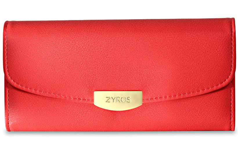 Zyros Women's Genuine Leather Wallet - 97BAG-L (Red)