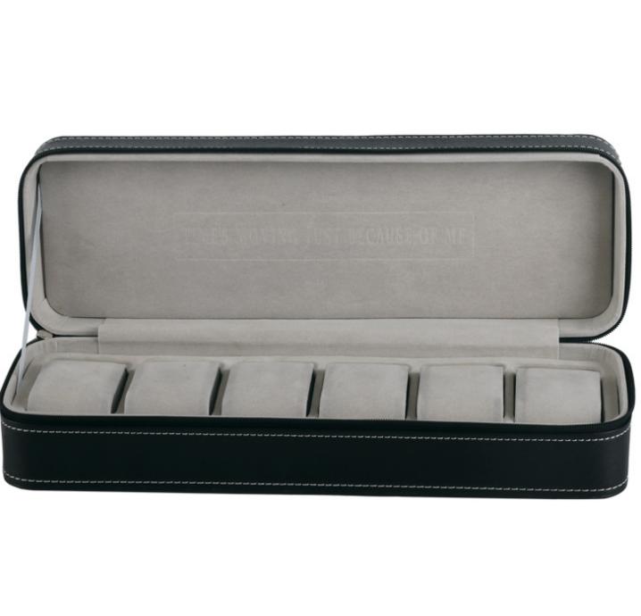 Black PU Leather Watch Box - 6 Slots | Buy Online | Ubuy Kuwait