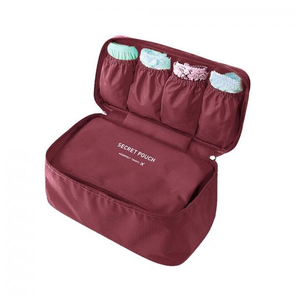986cd58f1529 Portable Travel Pouch Storage Organizer - Burgandy Daisy