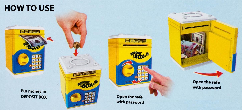 Deposit Box Safe For Kids- Pink