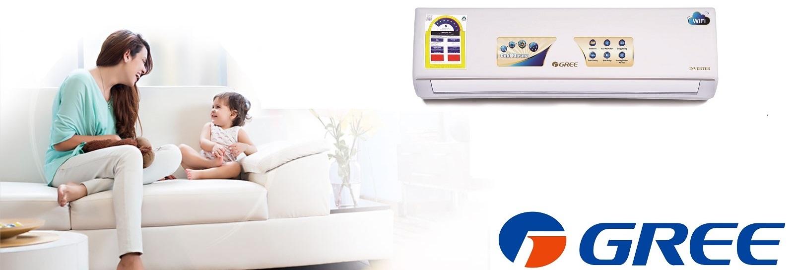 Gree Mini Split Inverter AC 18000 BTU, R410A, Cooling, WiFi