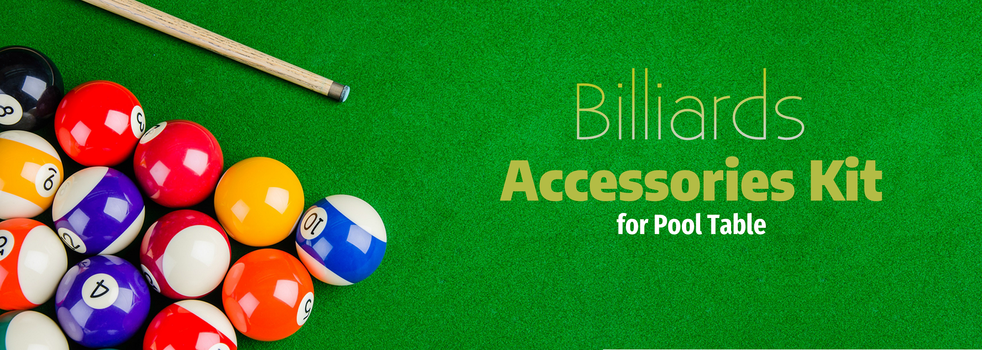 Piece Billiards Accessories Kit For Pool Table Buy Online - Pool table description