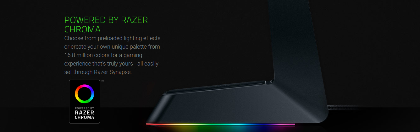 Razer Base Station Chroma RGB Enabled Headset Stand With USB