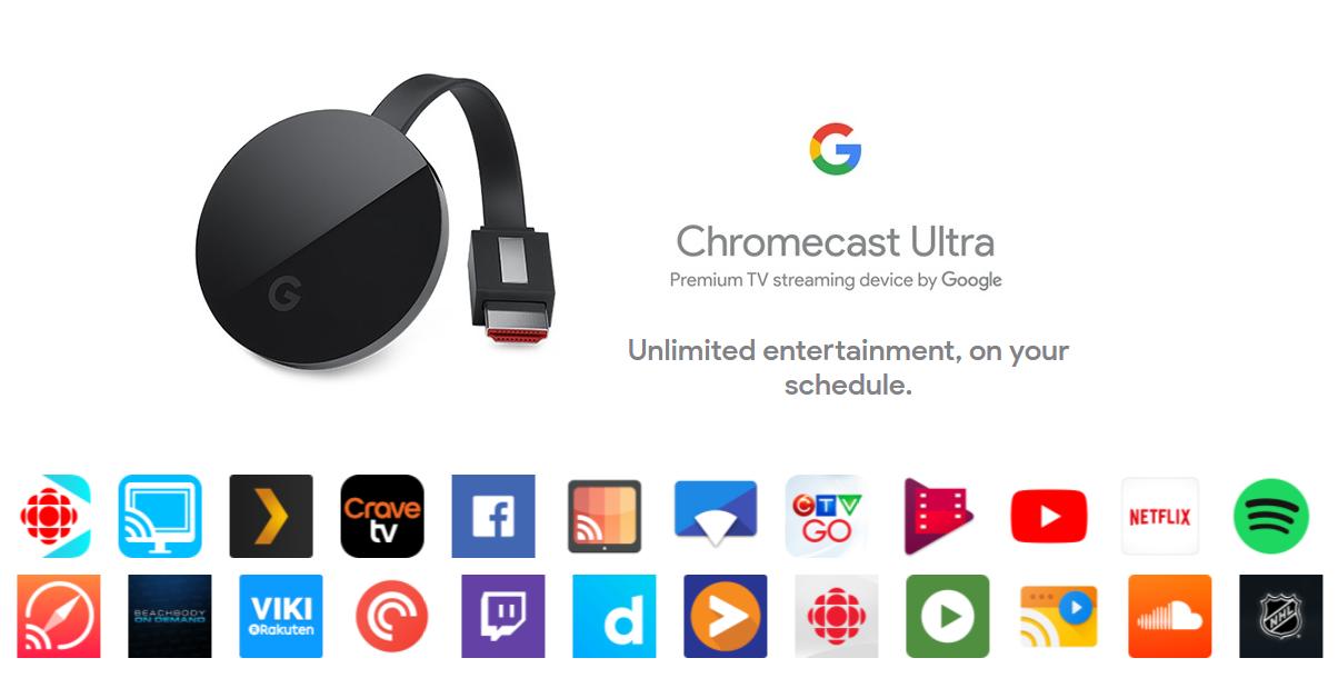Google Chromecast Ultra, 4K Ultra HD & HDR / 1080P HDTV
